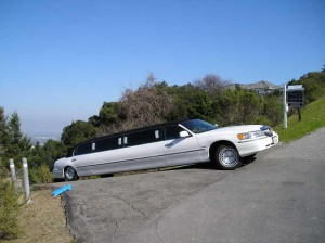 limo stuck on a hill in san diego california