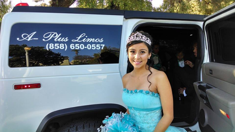 Young Woman On Her 15 Birthday With A Plus Limos Hummer