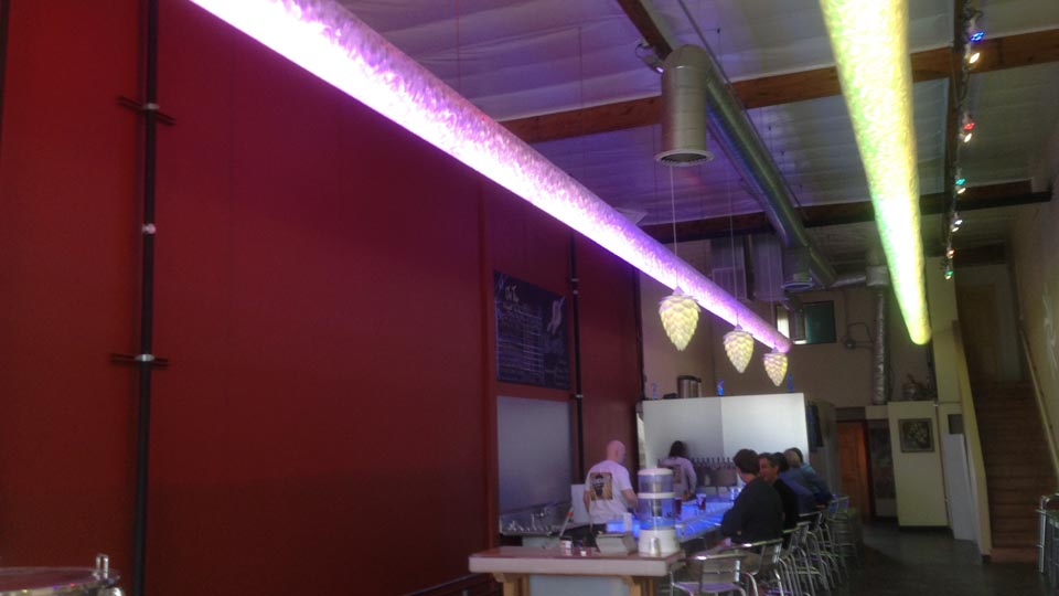 Beautiful Lighting Inside Kilowatt Brewing