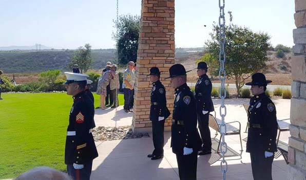 San Diego Police Honor Guard Miramar national cemetery san diego