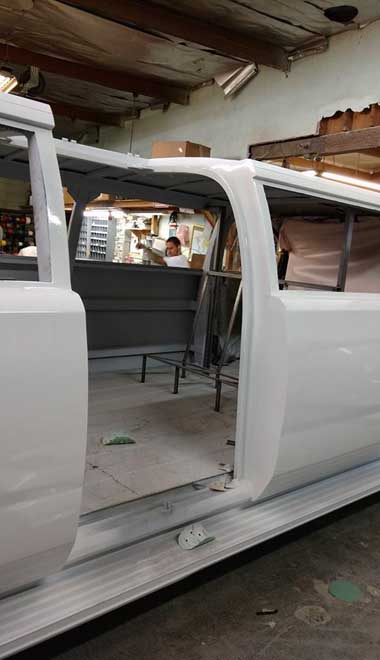 Paint Booth Rental >> 2017 Cadillac Escalade Limousine in Production | A Plus Limos