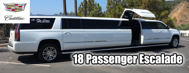 Cadillac Escalade limo rental in San Diego