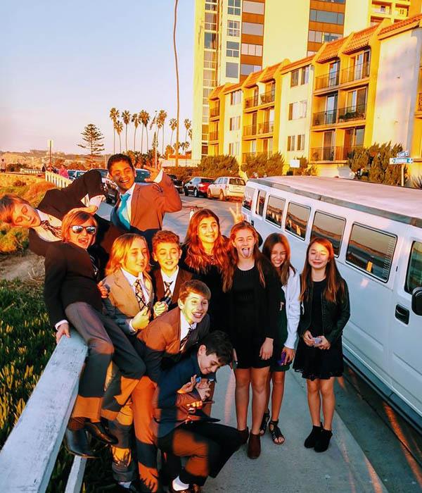 National League of Junior Cotillions San Diego Chapter 2020 graduating class hummer limousine transportation