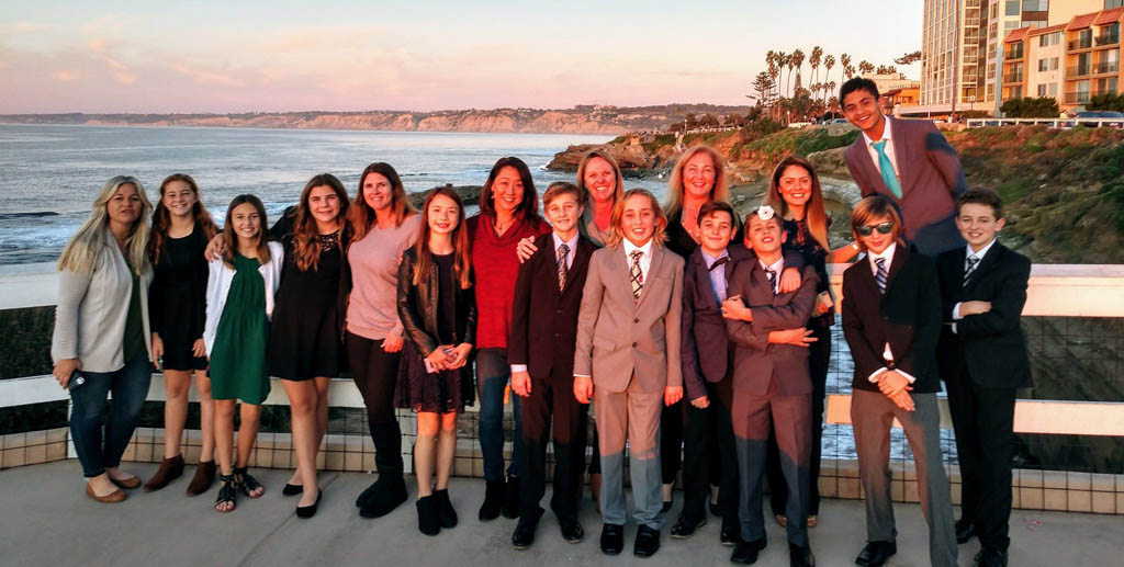 National League of Junior Cotillions San Diego Chapter 2020 graduates and chaperones